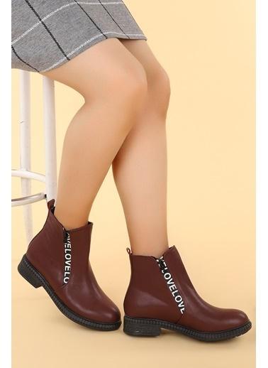 Ayakland Ayakland N901-07 Cilt Termo Taban Kadın Bot Ayakkabı Bordo